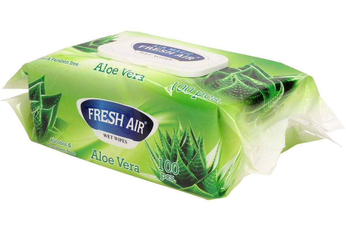 Fresh Air vlhčené ubrousky 100ks Aloe Vera