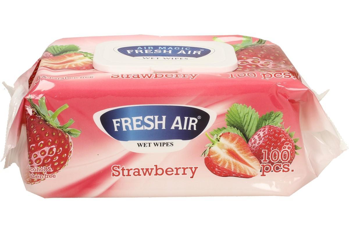 Fresh Air vlhčené ubrousky 100ks Strawberry