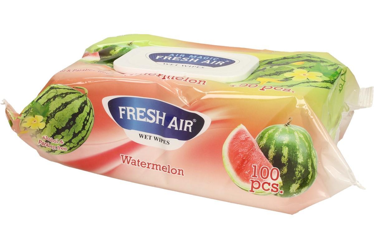 Fresh Air vlhčené ubrousky 100ks Watermelon