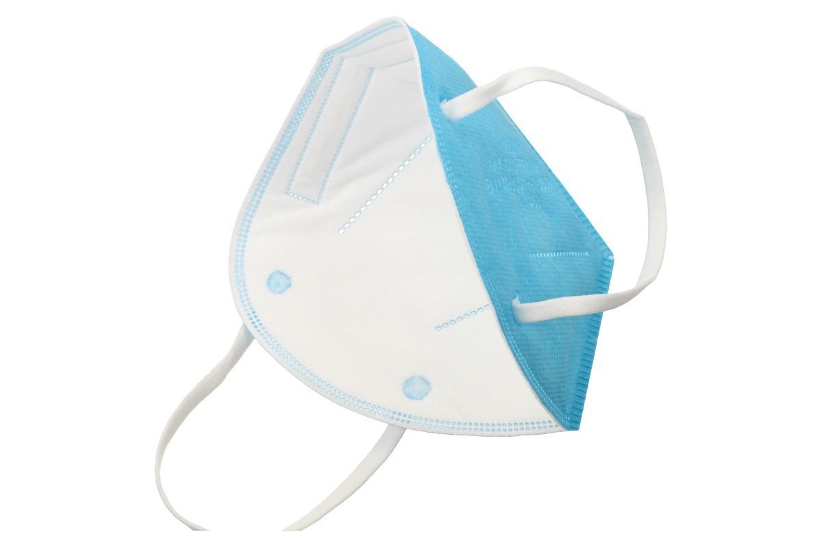 Respirátor FFP2/KN95, respirační rouška světle modrá