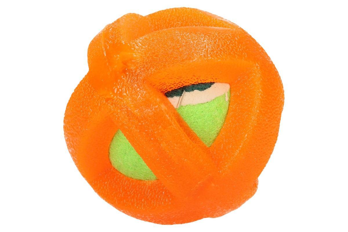Míček pro psa potažený gumou