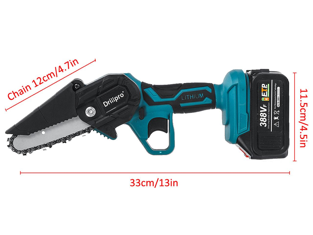 Akumulátorová ruční pila DrillPro 4 palce včetně 1 x 15000mAh baterie 388Vf 18V