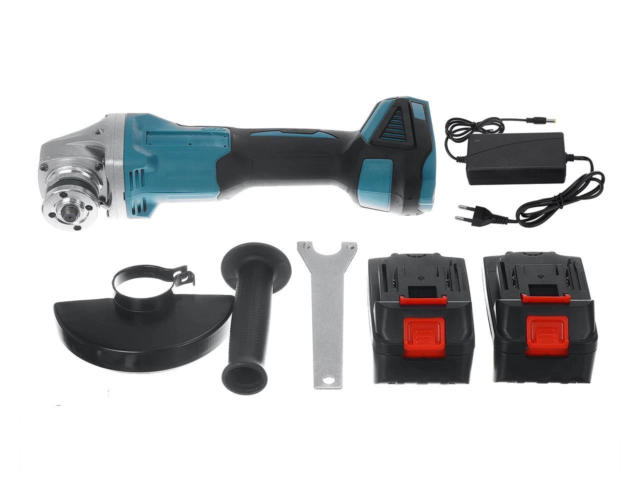 Akumulátorová Ruční Bruska DrillPro 125 mm včetně 2 x 15000mAh baterie 388Vf 18V