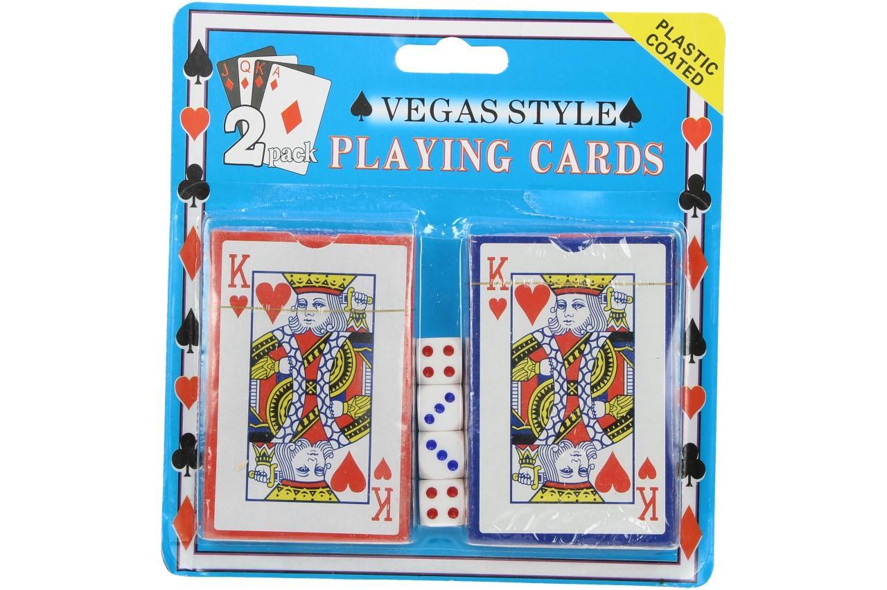 Karty na poker s kostkami 108 kusů