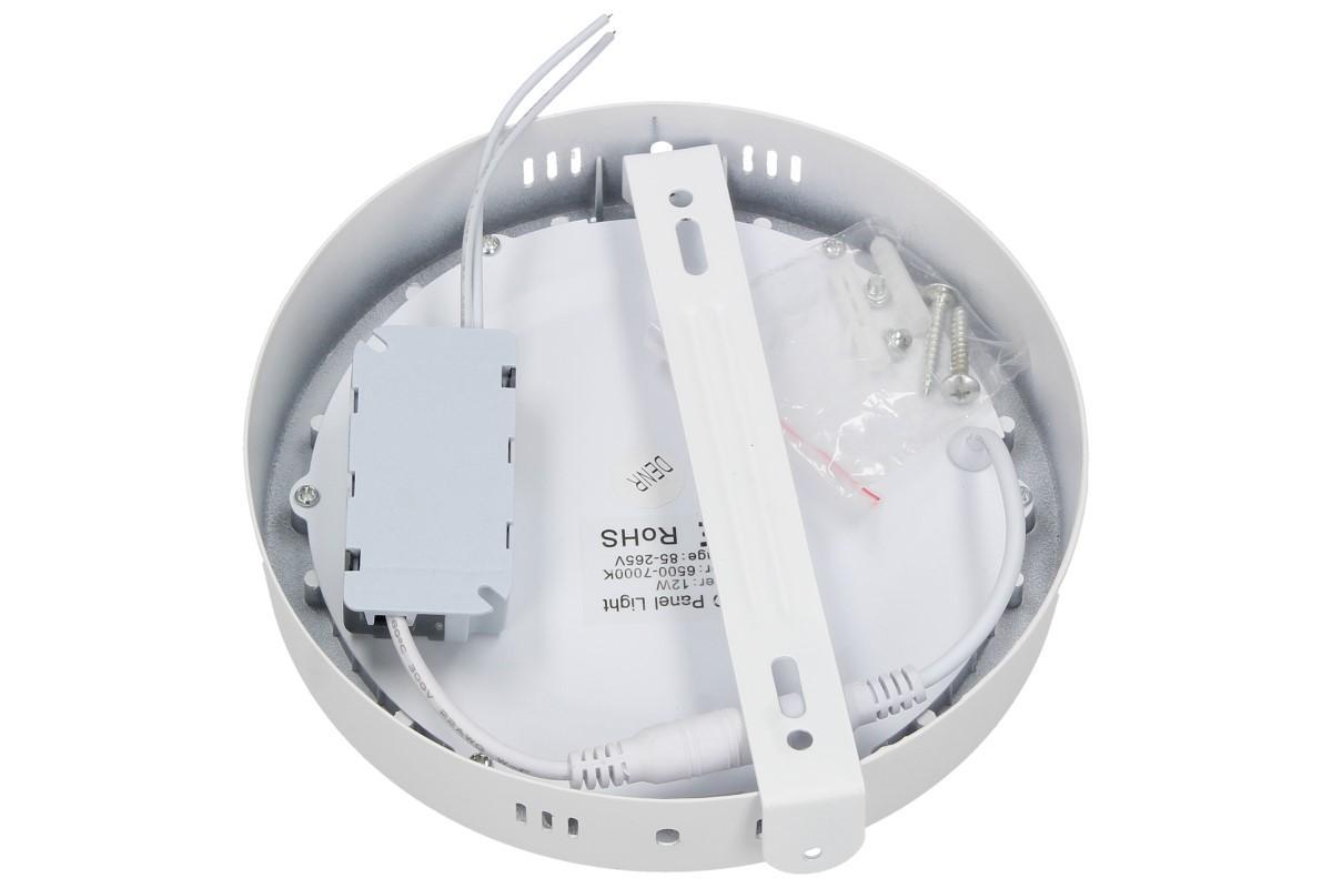 LED stropní panel 12W nezápustný kulatý