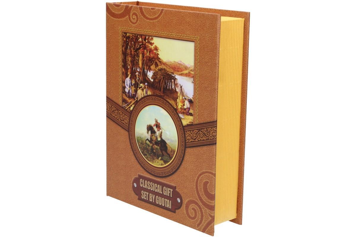 Dárková sada placatka s jelenem design Kniha 200 ml