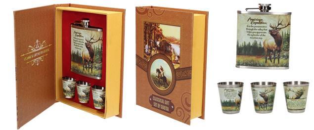 Krabice na víno v designu dřeva mahagon s příslušenstvím 5v1