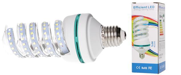 Úsporná žárovka Spiral led 9w se závitem E14