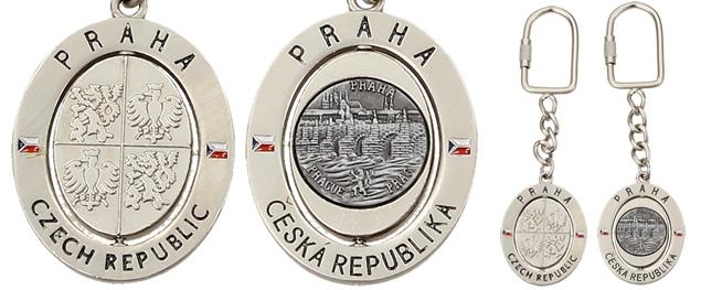 Klíčenka obdelníková státní znak a vlajka