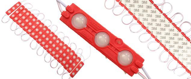 Nalepovací silná tříbodová LED dioda modrá
