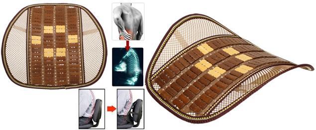 Masážní dřevěná ergonomická opěrka zad