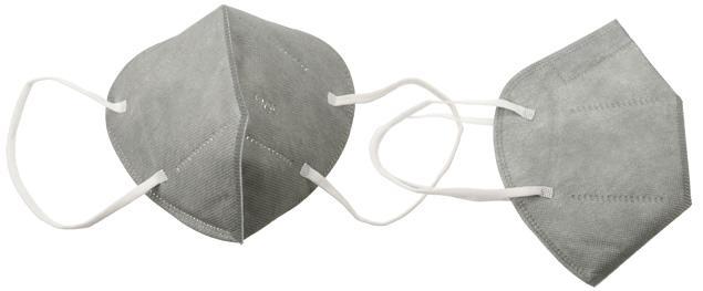 Respirátor FFP2/KN95, respirační rouška šedá