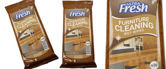 Ultra Fresh vlhčené čistící ubrousky na nábytek