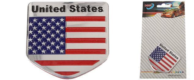 Kovová samolepka USA 5cm x 8cm