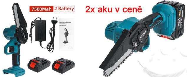 Akumulátorová ruční pila DrillPro 4 palce včetně 2 x 7500mAh baterie