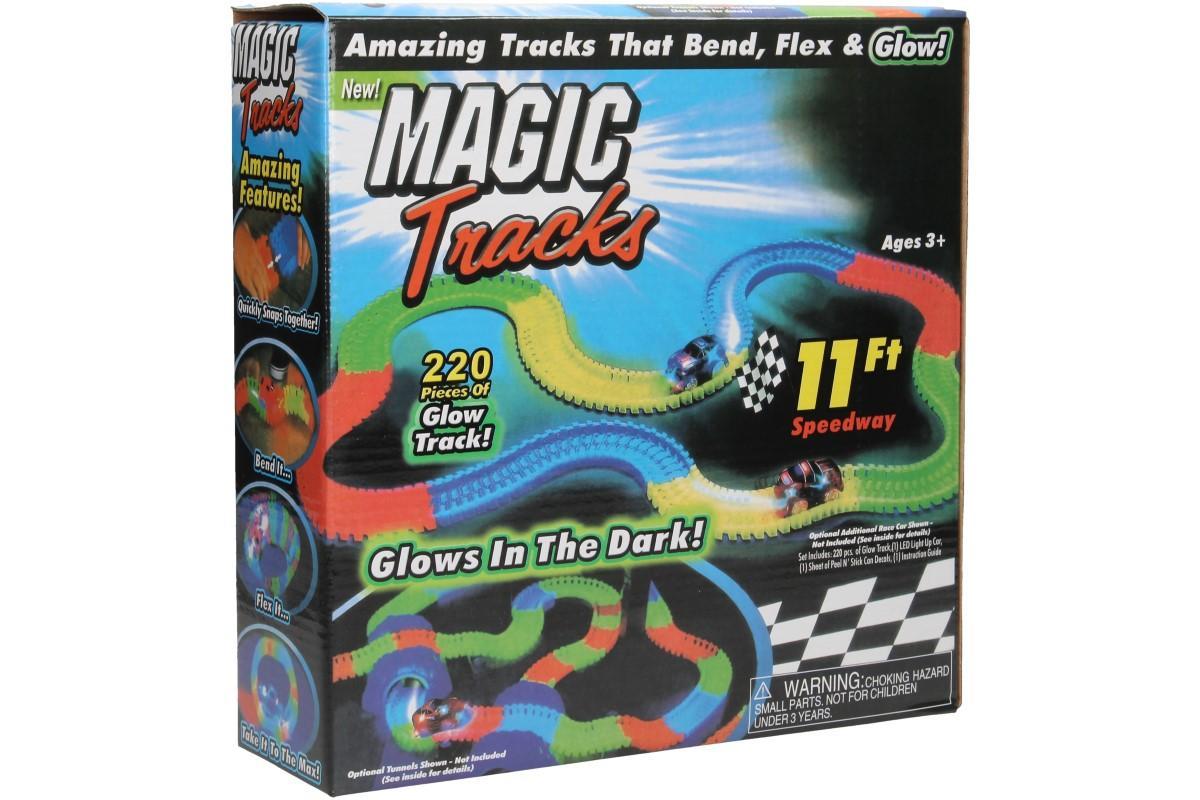 Foto 1 - Svítící autodráha Magic Tracks - Veselá autodráha, po které uhání barevné svítící autíčko a ve tmě vytváří světelnou show.