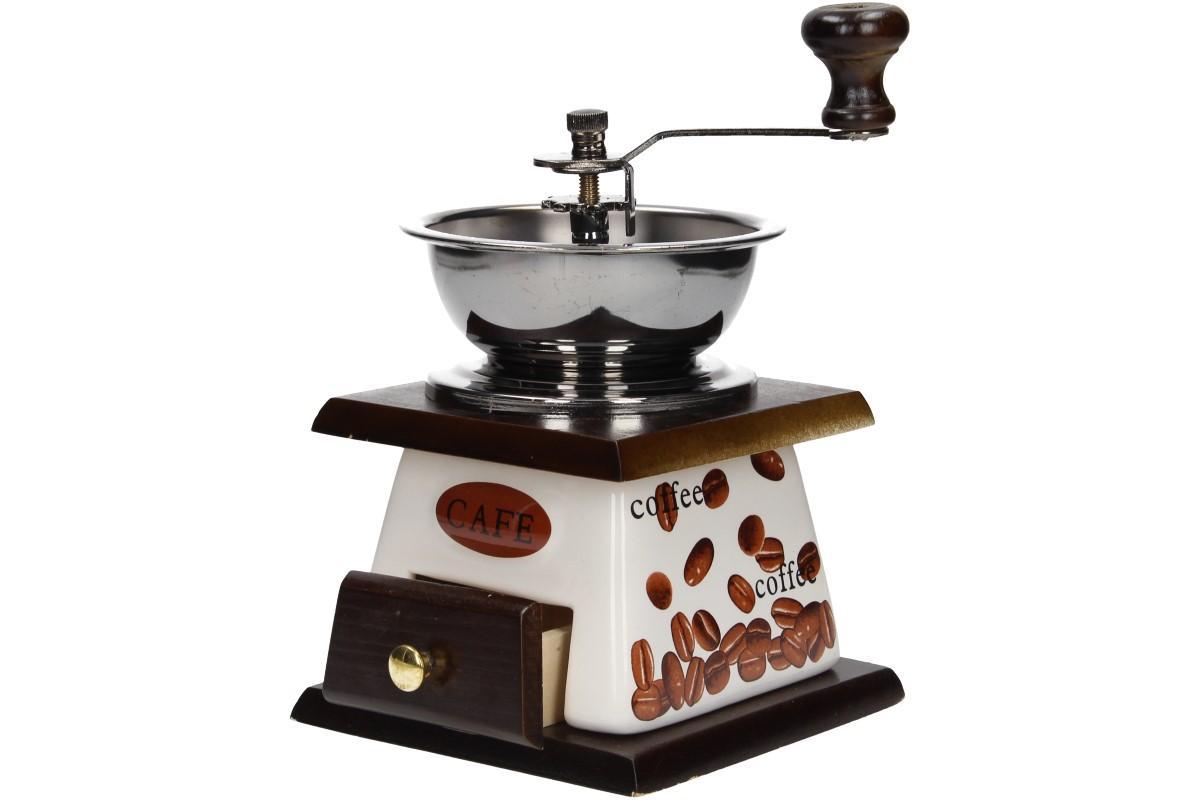 Foto 1 - Ruční mlýnek na kávu keramický je vhodný pomocník pro každodenní mletí kávy, jedině tak budete mít kávu vždy čerstvou a voňavou.
