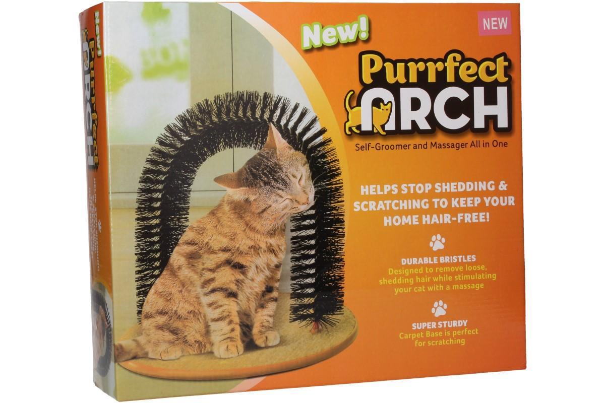 Foto 1 - Mazaný oblouk pro kočky - ve stejný moment vyčesává srst a masíruje kůži. Zároveň pomáhá udržet váš domov bez chlupů. Skvělá pomůcka pro kočky a pomocník pro Vás.