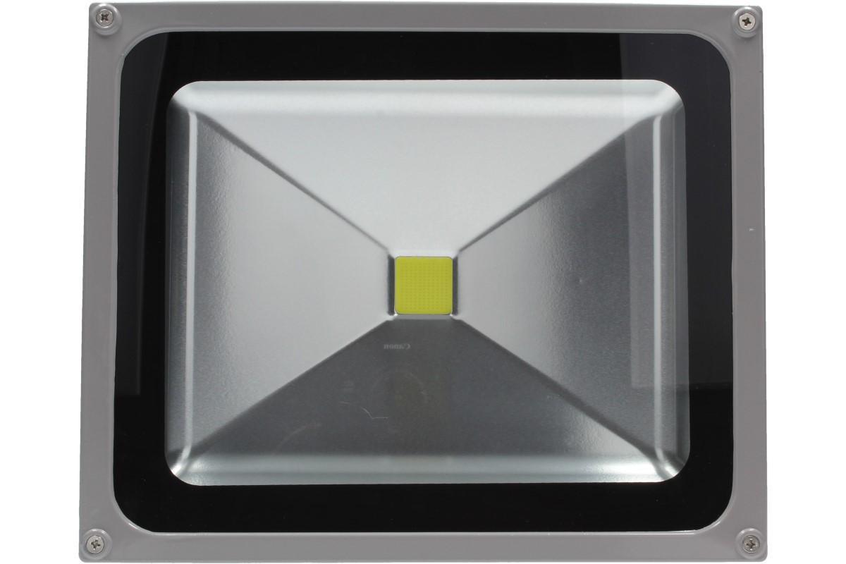 Foto 1 - LED výkonný reflektor 50W - LED čip: MCOB BRIDGELUX (USA), ideální  pro vnitřní i venkovní použití s metrovým kabelem včetně zabudované zástrčky do zásuvky 220V. Pouze na u nás za tuto cenu!