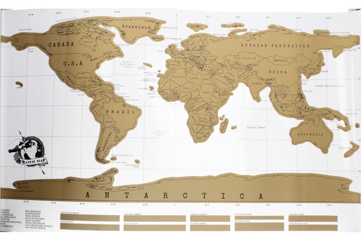 Foto 1 - Moje MAPA světa - je mapa světa, kde si můžete vyznačit, kde všude jste byli a které kouty na planetě jste navštívili. Krásná dekorace.