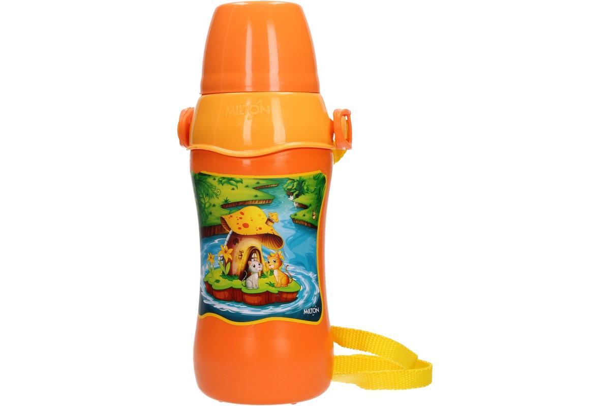 Foto 1 - Termolahev dětská 600ml - láhev s víčkem na závit s pítkem a s praktickým popruhem přes rameno udrží Váš nápoj dlouho v požadované teplotě.