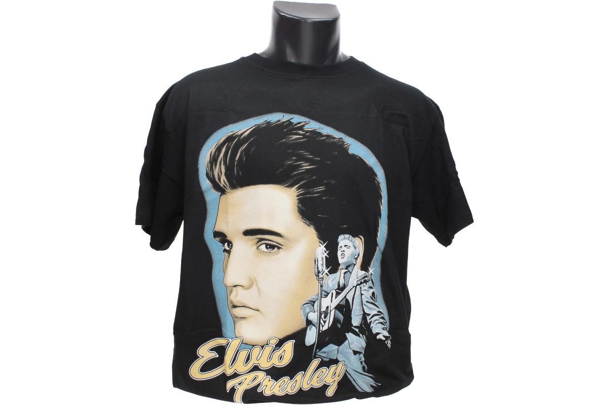 """Foto 1 - Tričko Elvis Presley - kvalitní obrázek na bavlněném tričku potěší všechny příznivce tohoto """"Krále Rock n Rollu"""". Super tričko pro každodenní nošení."""