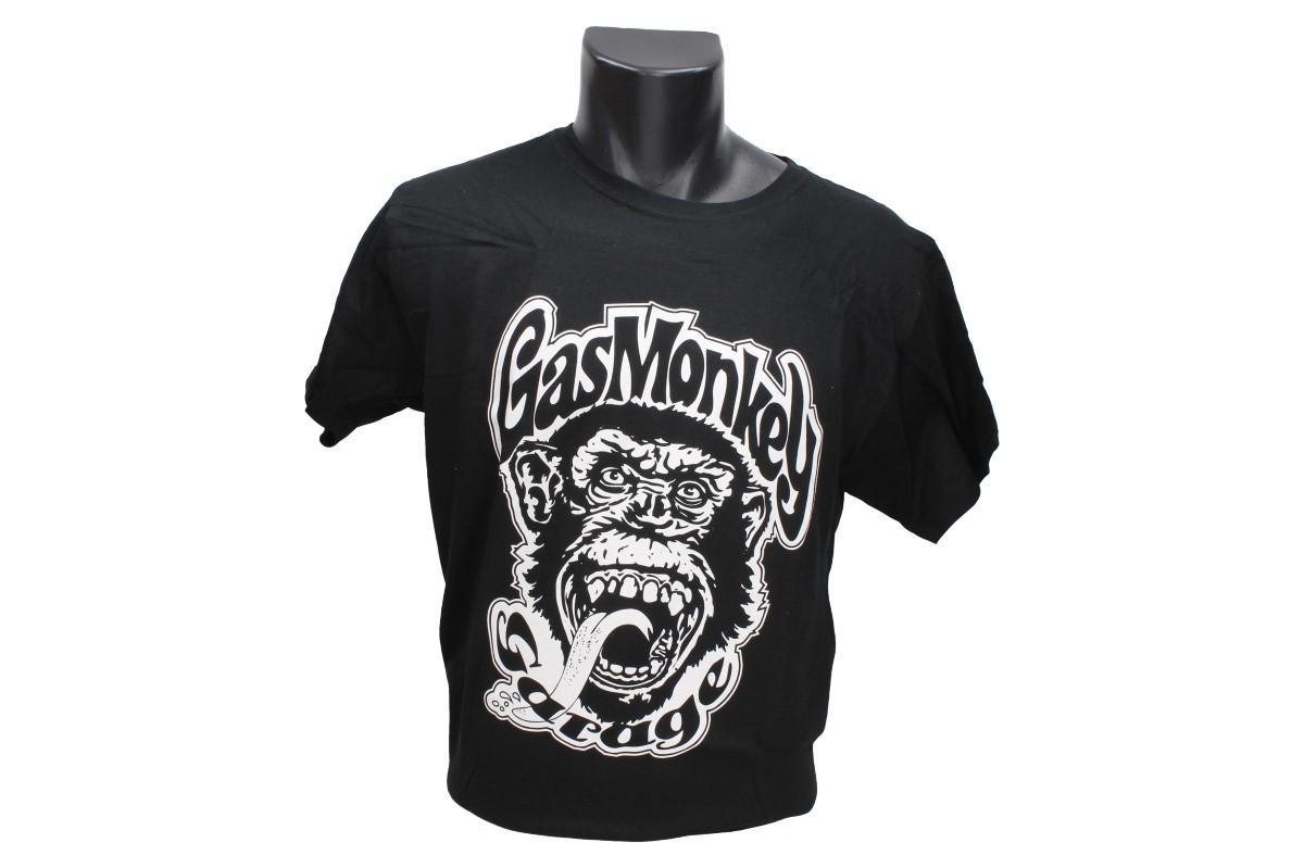 Foto 1 - Tričko Gas Monkey Garage černé je vhodné pro každodenní nošení do zaměstnání nebo za zábavou. Vtipné tričko Gas Monkey Garage je vyrobeno ze 100% bavlny a jeho velikost splňuje klasickou konfekci a je dodáváno pouze v černé barvě.
