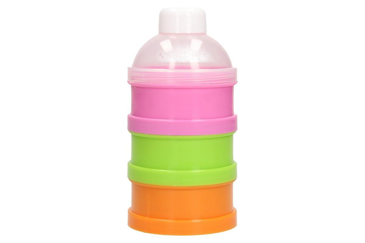 Foto 1 - Baby třípatrová dóza na svačinku pro ty nejmenší dětičky. Dóza lze využít na pití i na jidlo - na sunar i přesnídávku. Baby dóza je sestavená ze tří barevných dóz.
