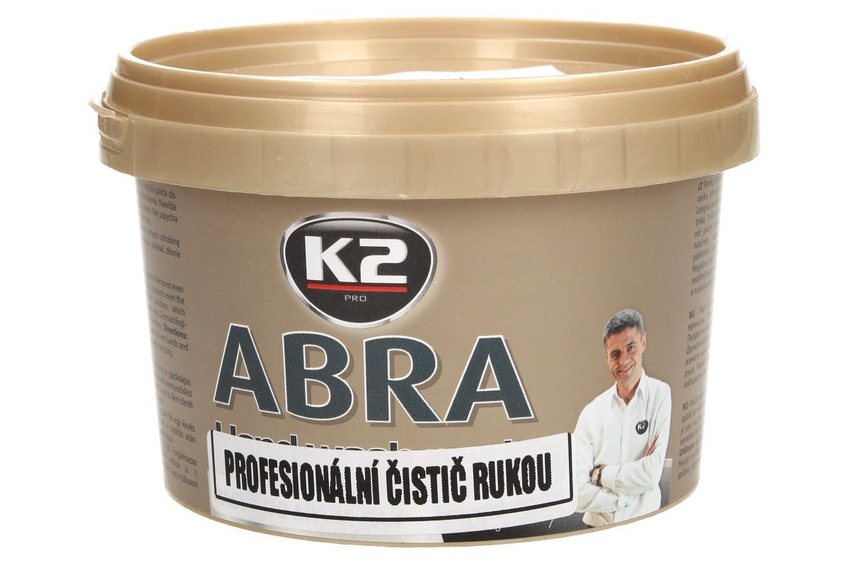 Foto 1 - K2 ABRA 500 ml - pasta na umývání rukou EXTRÉMNĚ účinná pasta odstraňuje i tu nejhorší špínu a dokonale chrání i ty nejcitlivější ruce. Pasta je dermatologicky testována.