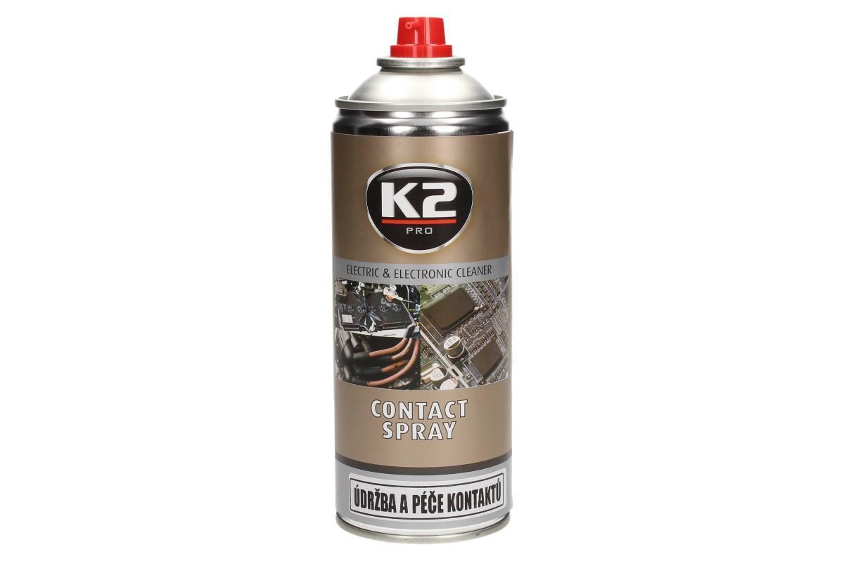 Foto 1 - K2 sprej na údržbu a péči kontaktů 400 ml NAPROSTO SKVĚLE čistí a odmašťuje elektrické části: zapalovací svíčky, jističe, kabely, konektory a pojistky. Zlepšuje vedení elektřiny a zlepšuje zapalování.