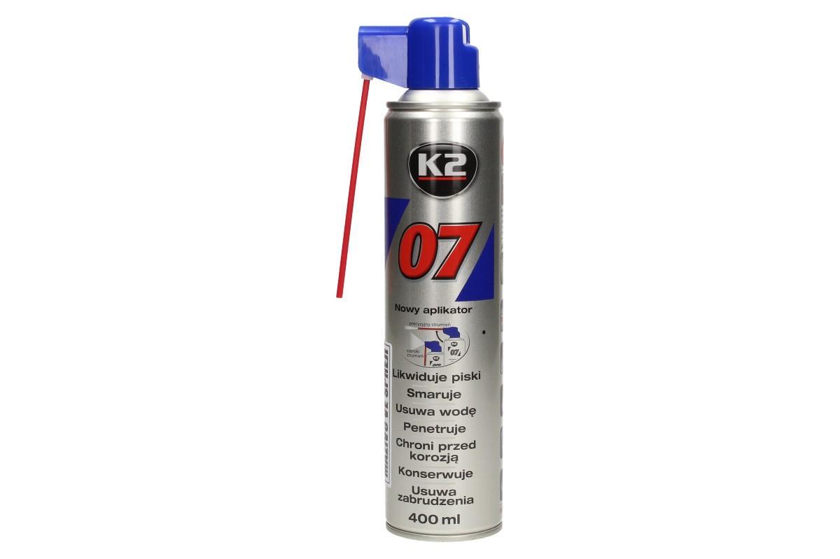 Foto 1 - K2 07 400 ml - mazivo ve spreji na tisíce použití v zaměstnání, při sportu i na zahradě. Důkladně proniká a maže části, které pak urychlí a zefektivní práci. Vytváří ochranný film proti korozi.
