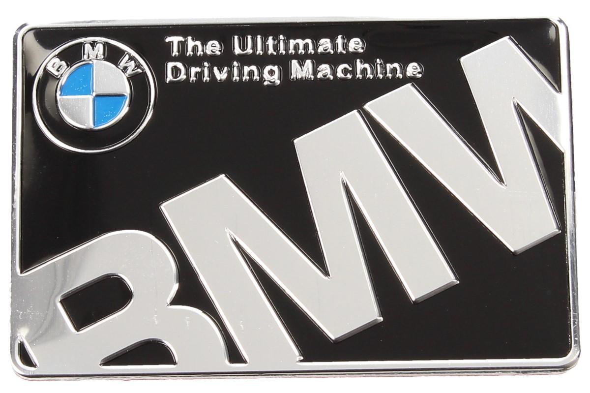 Foto 1 - Kovová samolepka BMW The Ultimate Driving Machine  6x4 cm - Kvalitní, stylová kovová samolepka BMW pro vylepšení vzhledu vašeho automobilu. Samolepka je vhodná i jako dáraček pro vaše partnery, kamarády a rodinu.