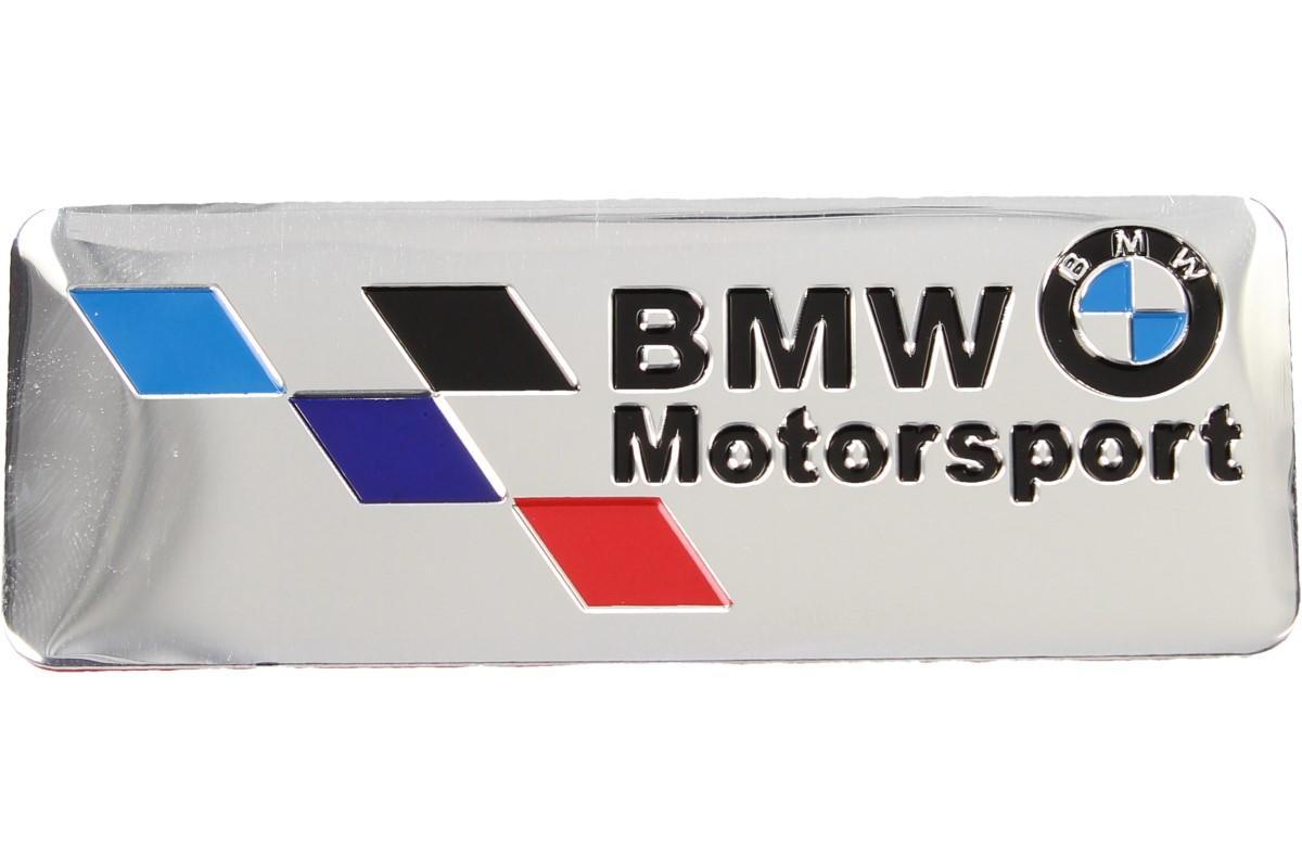 Foto 1 - Kovová samolepka BMW Motorsport stříbrná 8x3 cm stylová kovová samolepka BMW z kvalitního materiálu pro vylepšení vzhledu vašeho automobilu. Samolepka je odolná proti dešti, sněhu i běžným mycím prostředkům.
