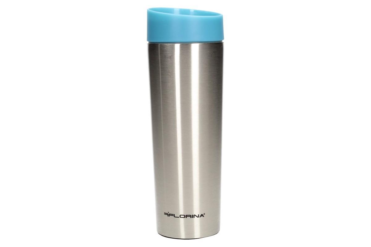 Foto 1 - Vysoký termohrnek Tazza 360 ml s bezpečnostním tlačítkem otevřít/zavřít. Vám udrží Váš nápoj dlouho teplý nebo naopak chladný. Termohrnek je vyroben z nerezového materiálu o obsahu 360 ml.