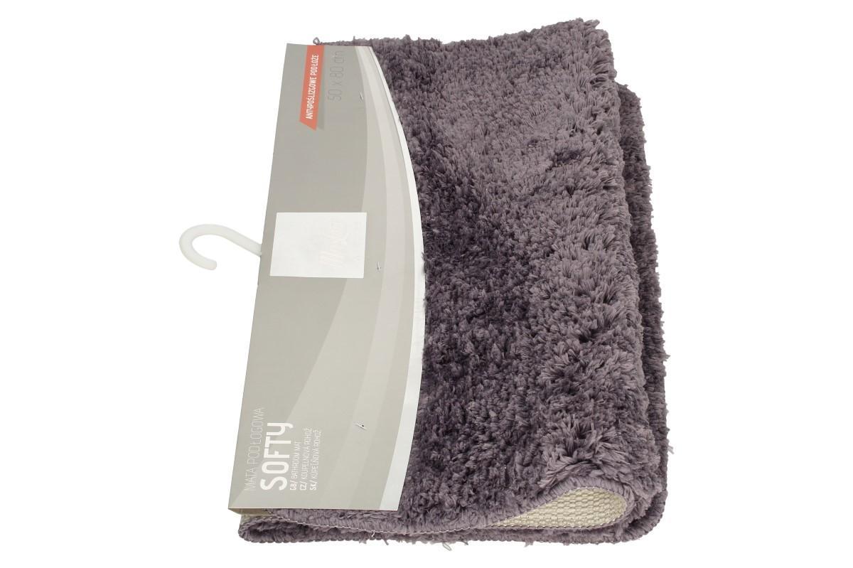 Foto 1 - Koupelnová rohožka kobercová  SOFTY 50 x 80 cm z příjemného, měkkého, kobercového materiálu s pogumovanou a prošívanou spodní stranou. Koupelnová rohožka ponechá vaše nohy stále v teple i na studených dlaždicích.
