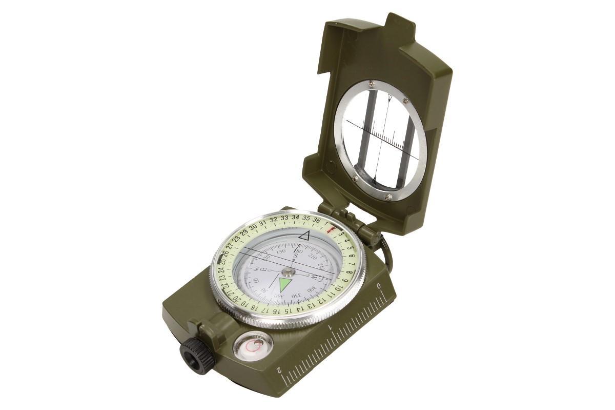 Foto 1 - Compass DC60 vojenského vzhledu zelený s brašnou a poutkem na krk - Americký silný, kovový kompas s gradientem DC60 KVALITNÍ KOMPAS nezbytný nejen pro cestovatele, ale i pro myslivce a dobrodruhy.