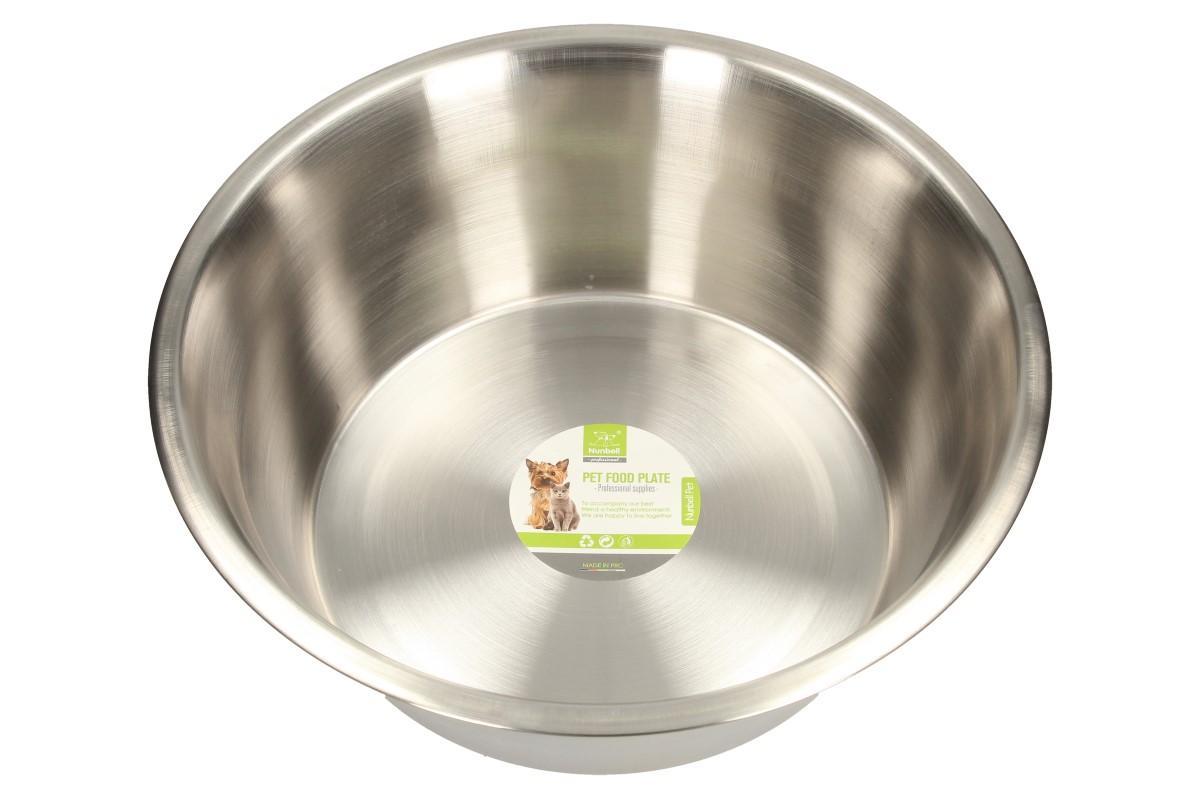 Foto 1 - Kulatá nerezová miska pro psy 28 cm Potěšte sebe i své mazlíčky praktickou, kulatou miskou na vodu, granule, konzervy a maso. Kulatá miska lze využít i pro kočky nebo jiná domácí zvířátka. Vyrobeno z kvalitního, nerezového materiálu.