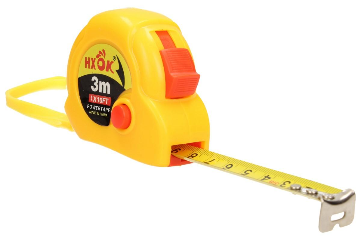 Foto 1 - Malý svinovací metr s poutkem 3 m  je ideální, praktický pomocník do každé domácnosti, dílny i do garáže. Malý rolovací metr se vejde pohodlně do kapsy. Metr obsahuje: poutko na pověšení, pojistku a zarážku proti nechtěnému rolování.