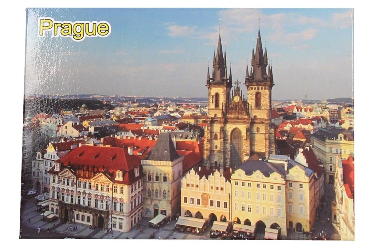 Foto 1 - Praha Týnský chrám magnet 9 x 6,5 cm nebo-li kostel Panny Marie před Týnem je magnetka v kvalitním a originálním fotografickém provedení. Magnet Praha je skvělý dárek pro turisty i pro blízké přátele.