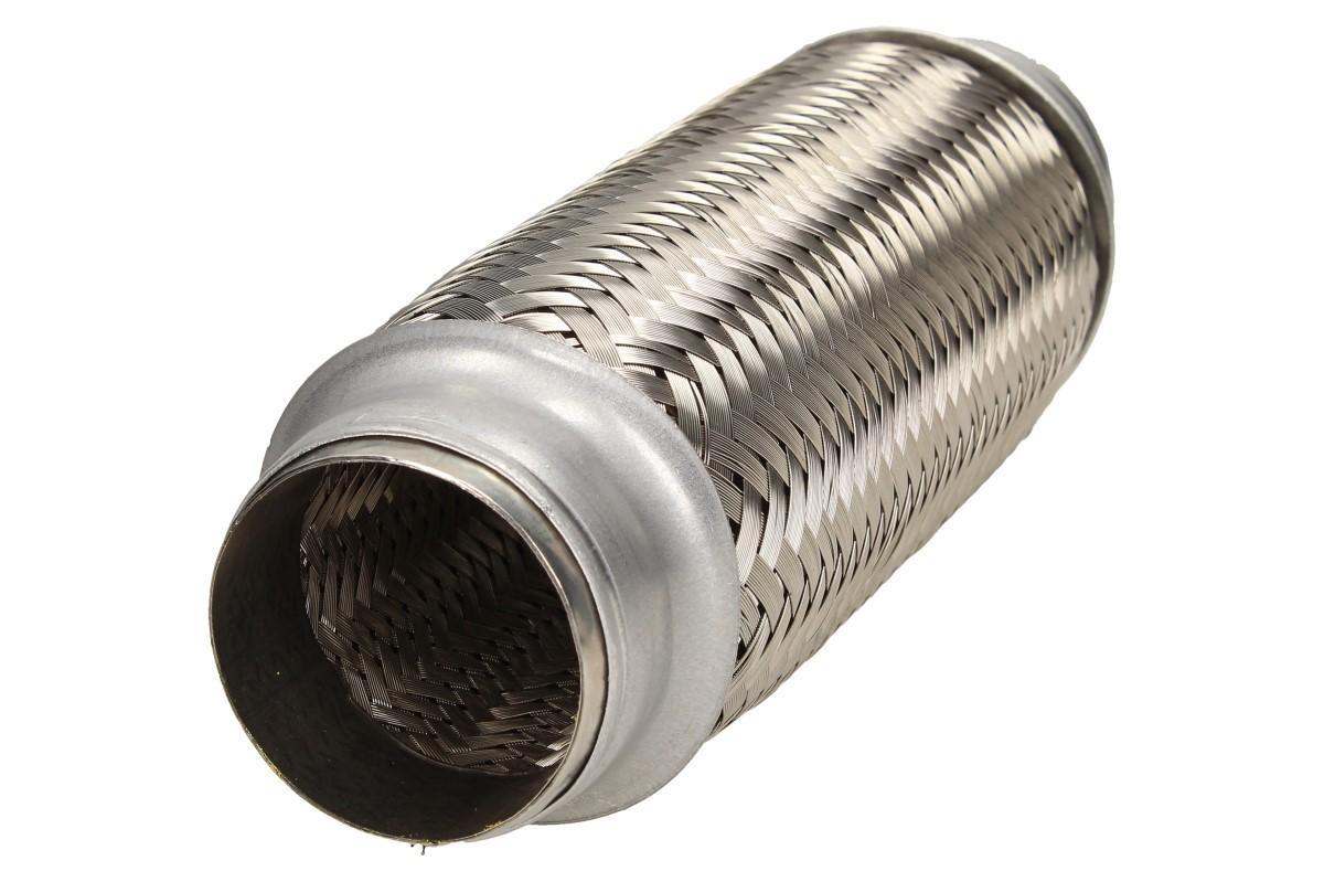 Foto 1 - Vlnovec výfuku - pružný díl výfuku (48x200x300) Prodlužte si životnost výfukového systému a zabraňte přenášení vibrací na výfukové potrubí. Vlnovec je z kvalitní nerezové oceli s vnitřním opletením.