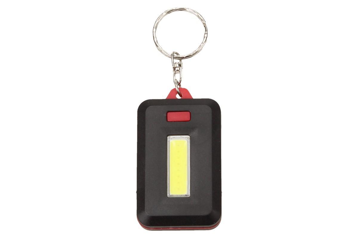 Foto 1 - Hranatá klíčenka výkonná LED svítilna 3 různé varianty světla: LED baterka silné světlo, slabší světlo a blikací efekt. Praktické využití LED výkonné svítilny je na noční procházky, kempování i na chatu.