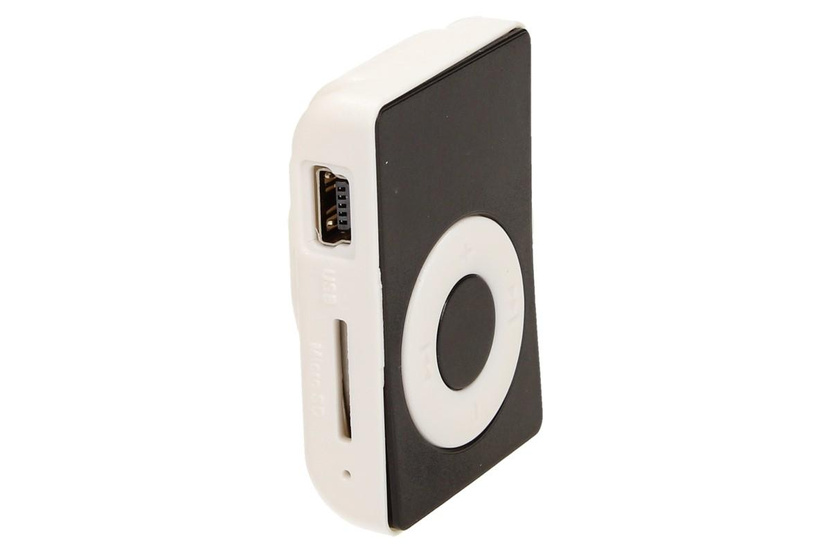 Foto 1 - MP3 přehrávač mini bez Displeje s obsahem vynikající kvality zvuku. MP3 přehrávač podporuje Micro SD kartu. Je vybaven praktickým klipem pro uchycení k oděvu, batohu kabelky nebo opasku.