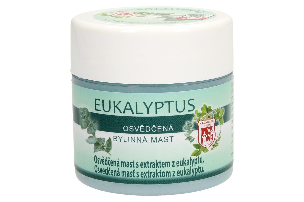 Foto 1 - Bylinná mast 150 ml - eukalyptus s eztraktem z eukalyptu. Má prokrvující a regenerační účinky, povzbuzuje a osvěžuje. Mast obsahuje čistý přírodní esenciální olej.