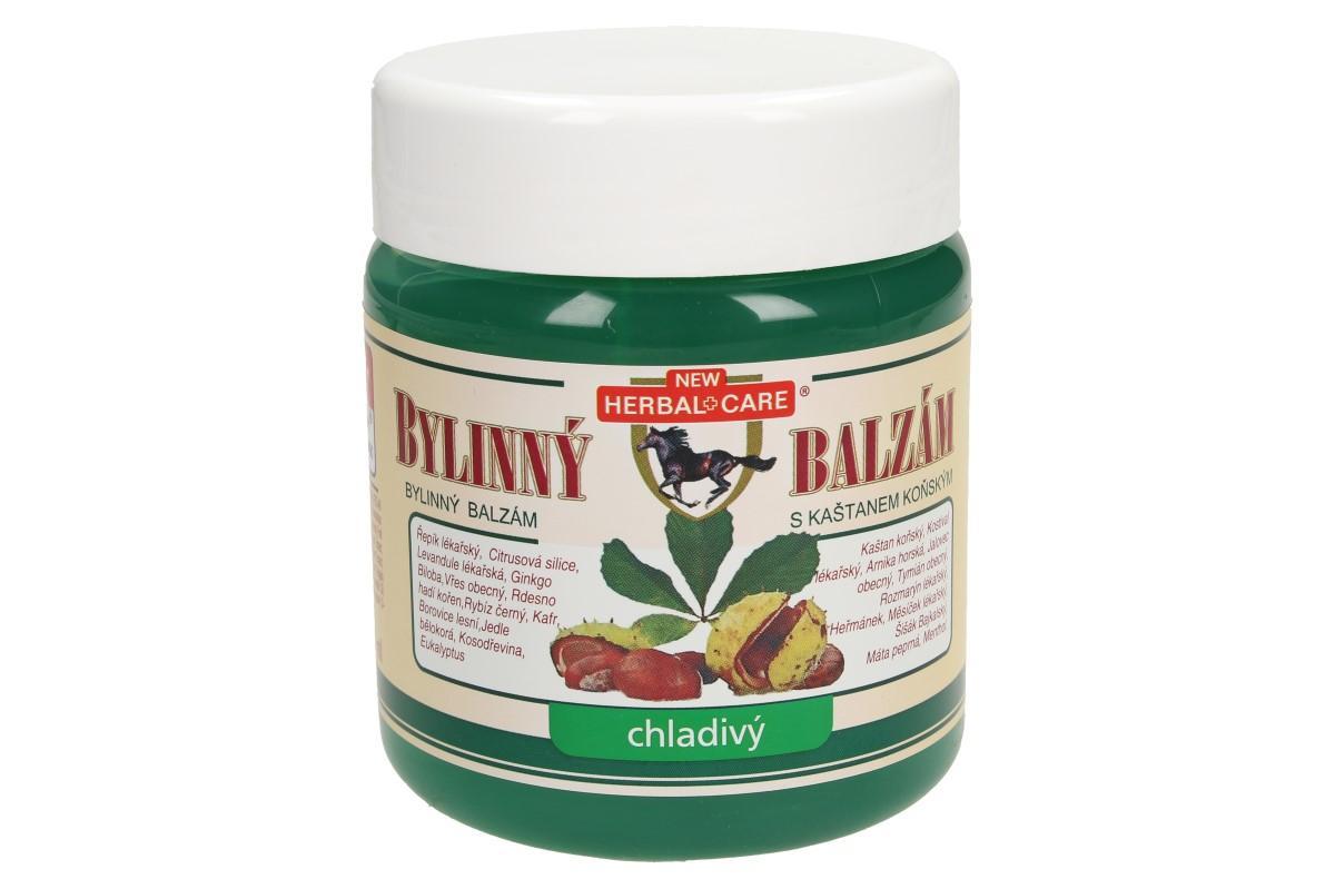 Foto 1 - Bylinný balzám Herbal care chladivý má chladivý efekt se zvýšeným obsahem mentholu, kafru, eukalyptového oleje a kaštanu koňského. Vhodný proti únavě, namáhané a vyčerpané pokožce.
