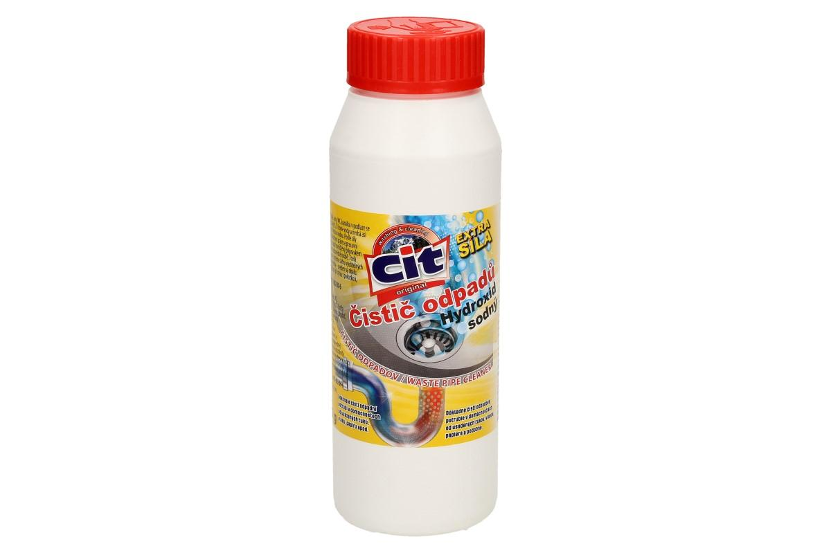 Foto 1 - CIT Čistič odpadů Hydroxid sodný 270 g je extra silný čistič na veškeré odpady. Dokonale čistí odpadní potrubí v domácnostech od usazenin tuků, vlasů, papírů, zbytků jídla apod.