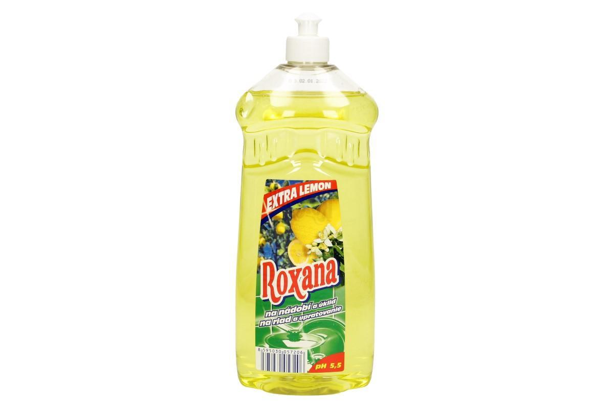 Foto 1 - Roxana tekutý prostředek na nádobí 1 L citron je nezbytnou součástí každé běžné domácnosti. Tekutý prostředek Roxana odbourá veškerou špínu, připáleniny i zašlé nádobí.