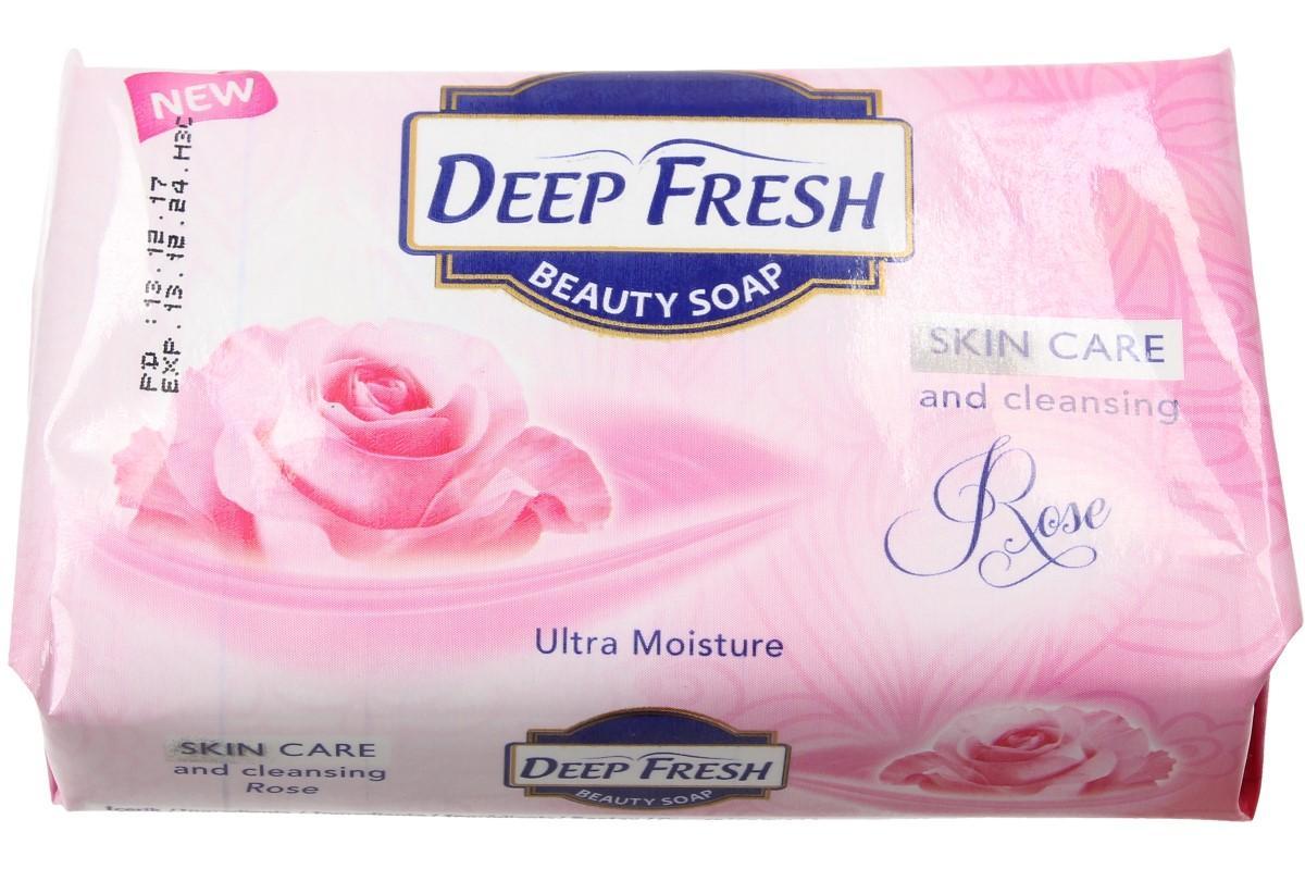 Foto 1 - Deep Fresh mýdlo na obličej i tělo s lákavou vůní růže. Voňavé mýdlo pro krásnou a zdravou pokožku je vhodné pro jakýkoliv typ pleti. Mýdlo pečlivou a zdravou hygienu.