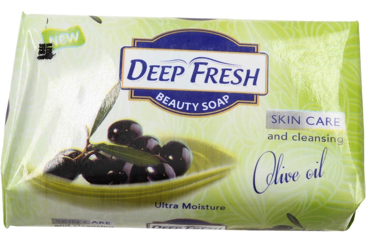 Foto 1 - Deep Fresh mýdlo na obličej i tělo Olivový olej je příjemně voňavé mýdlo pro krásnou a zdravou pokožku je vhodné pro jakýkoliv typ pleti. Mýdlo pro pečlivou a zdravou hygienu.