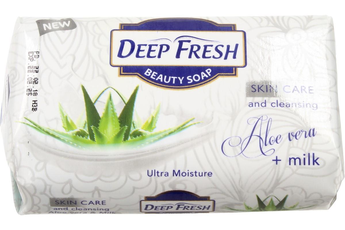 Foto 1 - Deep Fresh mýdlo na obličej i tělo Aloe Vera s mlékem je velice příjemné a šetrné pro krásnou a zdravou pokožku. Mýdlo Deep Fresh je vhodné pro jakýkoliv typ pleti.