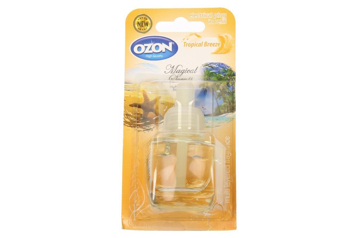 Foto 1 - Ozon - náplň do elektrického osvěžovače tropical Breeze smyslným a hřejivým aroma provoní váš pokoj tekutá náplň do elektrického osvěžovače vzduchu. Dopřejte si příjemnou vůni tropical Breeze.
